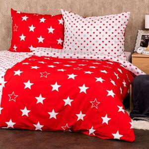 4Home Bavlněné povlečení Stars red , 160 x 200 cm, 70 x 80 cm