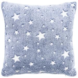 4Home Povlak na polštářek Stars svítící modrá, 40 x 40 cm