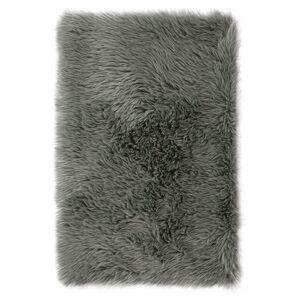 AmeliaHome Kožešina Dokka tmavě šedá, 60 x 90 cm