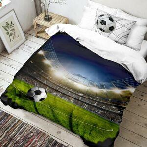 Kvalitex Bavlněné povlečení Fotbal 3D, 140 x 200 cm, 70 x 90 cm