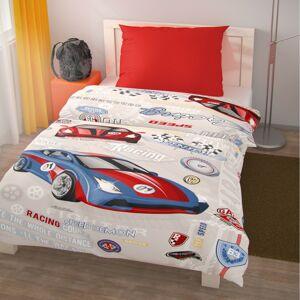 Kvalitex Dětské bavlněné povlečení Racing, 140 x 220 cm, 70 x 90 cm