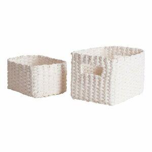 Compactor Set pletených košíků Compactor Lisou, 2 dílný - bílý