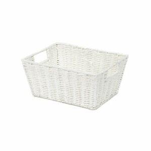 Compactor Ručně pletený košík ETNA, 31 x 24 x 14 cm, bílá