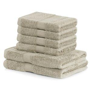 DecoKing Sada ručníků a osušek Bamby béžová, 4 ks 50 x 100 cm, 2 ks 70 x 140 cm