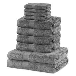 DecoKing Sada ručníků a osušek Marina stříbrná