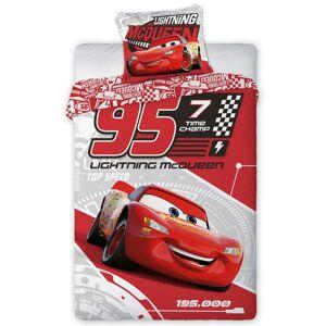 Tiptrade Dětské bavlněné povlečení Cars 3 Blesk McQueen, 140 x 200 cm, 70 x 90 cm