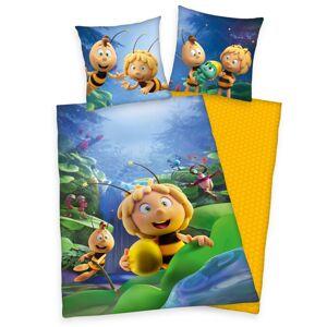 Herding Dětské bavlněné povlečení Včelka Mája, 140 x 200 cm, 70 x 90 cm