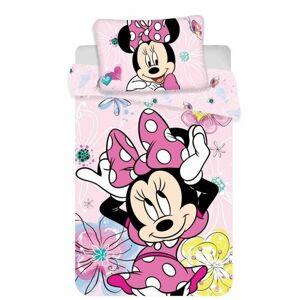 Jerry Fabrics Dětské bavlněné povlečení do postýlky Minnie butterfly 02 baby, 100 x 135 cm, 40 x 60 cm