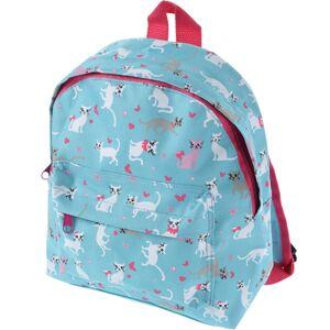 Dětský batoh Kočičky modrá, 21 x 27 x 8,5 cm