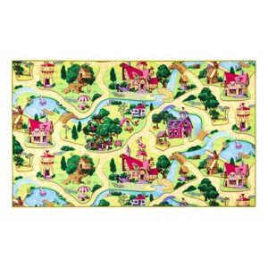 Vopi Dětský koberec Pohádková vesnice, 80 x 120 cm, 80 x 120 cm