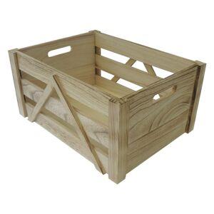 Dřevěná úložná krabice M, 31 x 16 x 21 cm