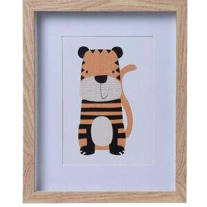 Dřevěný fotorámeček Hatu Tygr, 22,5 x 3 x 27,8 cm