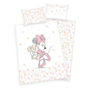 Herding Dětské bavlněné povlečení do postýlky Minnie Mouse, 100 x 135 cm, 40 x 60 cm