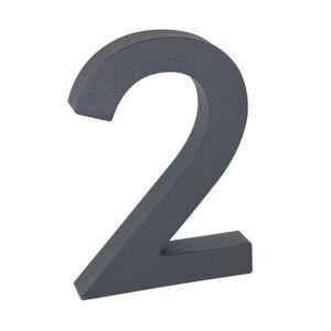 """Hliníkové číslo 2 v """"3D"""" provedení se strukturovaným povrchem RICHTER RN.100LV.2.AL.AM.3D"""