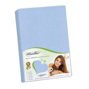 Bellatex Jersey prostěradlo Kamilka světle modrá, 200 x 220 cm