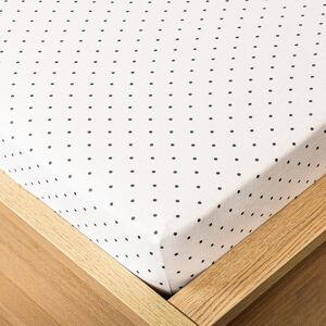 Trade Concept Jersey prostěradlo tečka šedá, 90 x 200 cm