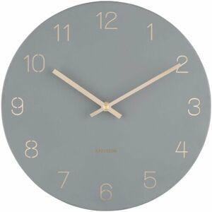 Karlsson 5788GY designové nástěnné hodiny, pr. 30 cm