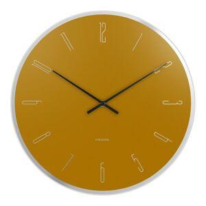 Karlsson 5800YE designové nástěnné hodiny, pr. 40 cm