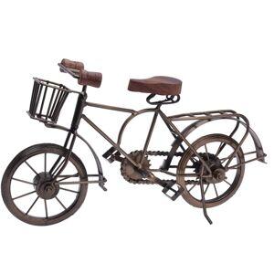 Kovová dekorace Bicyclette hnědá, 36 x 11 x 20 cm