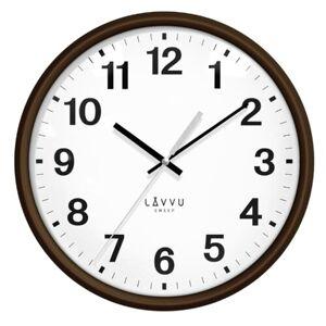 LAVVU ESSENTIAL WOOD LCS4041 nástěnné hodiny