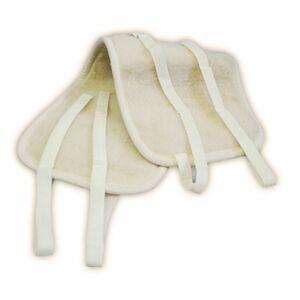 Ledvinový oboustranný pás z ovčí vlny, přírodní,