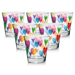 Mäser Sada sklenic Love Rainbow 250 ml, 6 ks