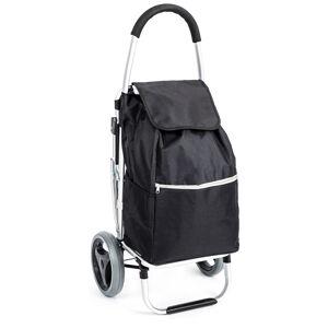 Aldo Nákupní taška na kolečkách se sedátkem Comfort, černá