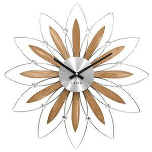LAVVU CRYSTAL Flower LCT1112 Nástěnné hodiny