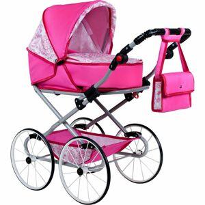 Kočárek pro panenky NEW BABY Retro 2v1 Natálka růžový