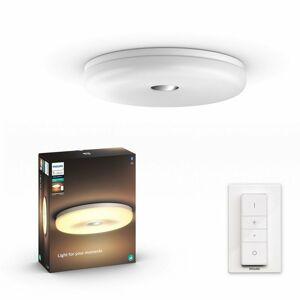 Hue LED White Ambiance Stropní koupelnové svítidlo Philips Struana BT 34189/31/P6 32W 2400lm 2200-6500K IP44 24V, bílé s dálkovým ovladačem a Bluetooth