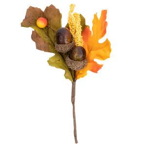 Podzimní dekorační větvička s šípky, 18 cm