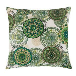 Bellatex Polštářek Adéla Mandala zelená, 40 x 40 cm