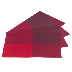 Jahu Prostírání DeLuxe červená, sada 4 kusů, 30x45 cm