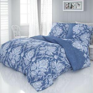 Kvalitex Saténové povlečení Vintage modrá, 140 x 200 cm, 70 x 90 cm