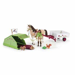 Schleich 42533 Sarah s koníkem a zvířátky kempují, 24,5 x 19 x 6,6 cm