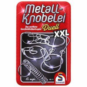 Schmidt Sada kovových hlavolamů Duell XXL v plechové krabičce
