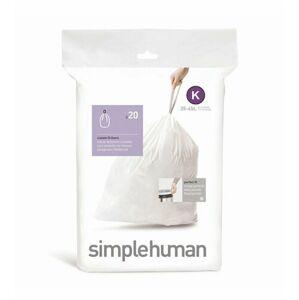 Sáčky do odpadkového koše 35-45 L, Simplehuman typ K, zatahovací, 20 ks v balení