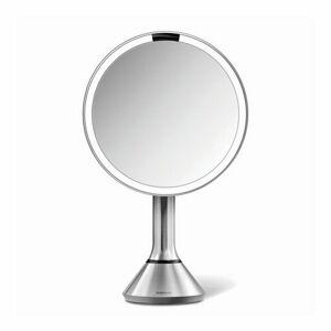 Simplehuman Kosmetické zrcátko 20 cm, LED osvětlení, USB dobíjení, kartáčovaná nerez ST3026