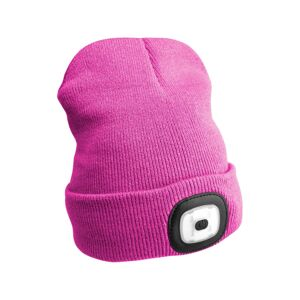 Čepice s čelovkou 45lm, nabíjecí, USB, univerzální velikost, růžová SIXTOL