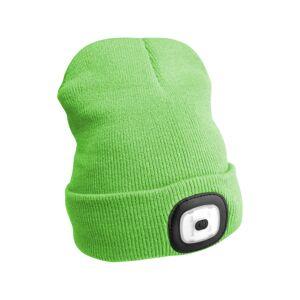 Sixtol Čepice s čelovkou 45 lm, USB, uni, zelená