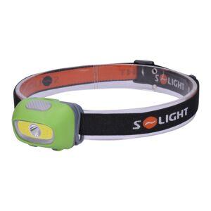 Solight WH24 Čelová LED svítilna 3 W Cree + 3 W COB, černá