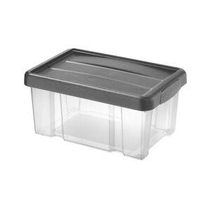 Tontarelli Úložný box s víkem Puzzle 5 l, transparentní/šedá