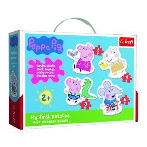 TREFL Baby Prasátko Peppa 4v1 3,4,5,6 dílků