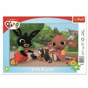 Trefl Puzzle Bing Hra s koťaty, 15 dílků