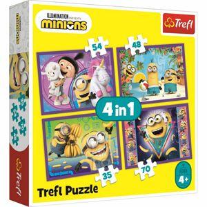 Trefl Puzzle Já, Padouch 3 Ve světě Mimoňů 4v1  35, 48, 54, 70 dílků