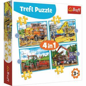 Trefl Puzzle Pracovní stroje 4v1 12, 15, 20, 24 dílků