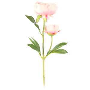 Umělá květina Pivoňka světle růžová, 58 cm