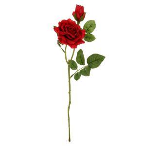 Umělá květina Růže červená, 46 cm