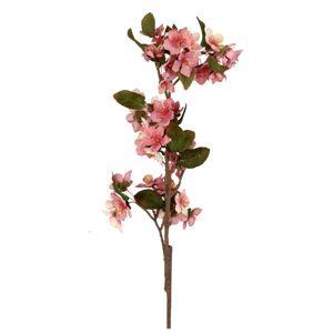 Umělá květina Třešňový květ růžová, 70 cm