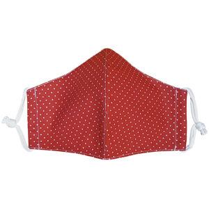 Ústní bavlněná rouška Puntík mini červená medium, M